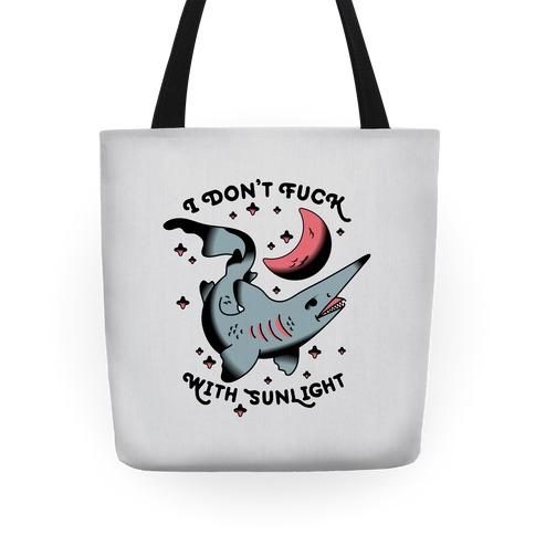 I Don't F*** With Sunlight (Goblin Shark) Tote