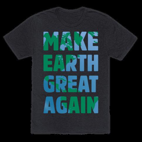Make Earth Great Again White Print