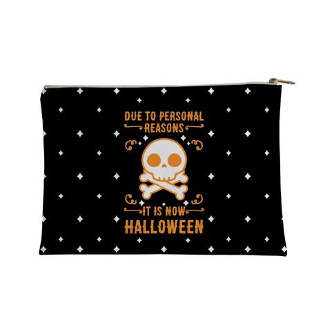 Due To Personal Reasons It Is Now Halloween Skull (Orange) Accessory Bag