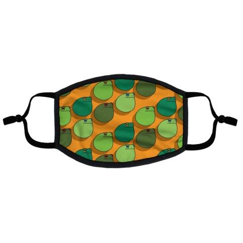 Frog Ball Pattern Flat Face Mask