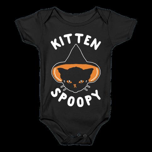 Kitten Spoopy Baby Onesy