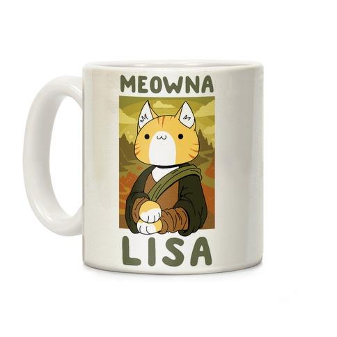 Meowna Lisa Coffee Mug