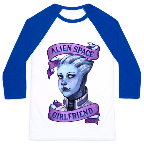 Alien Space Girlfriend Liara Baseball Tee