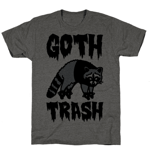 Goth Trash Raccoon Mens T-Shirt