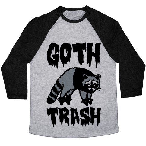 Goth Trash Raccoon Baseball Tee