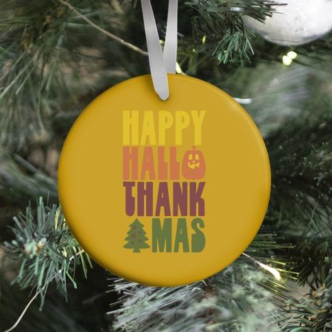 Happy Hallothankmas Ornament