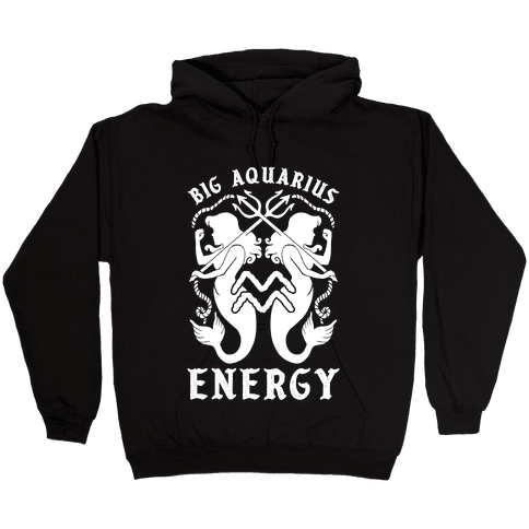 Big Aquarius Energy Hooded Sweatshirt