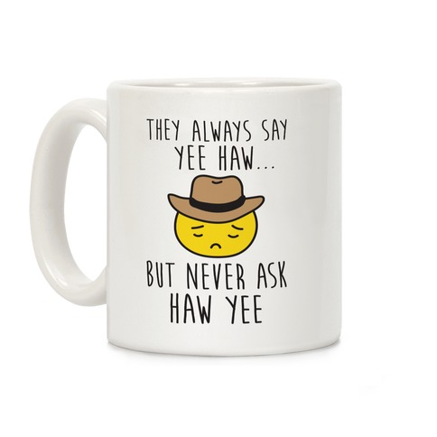 Sad Cowboy Emoji Coffee Mug