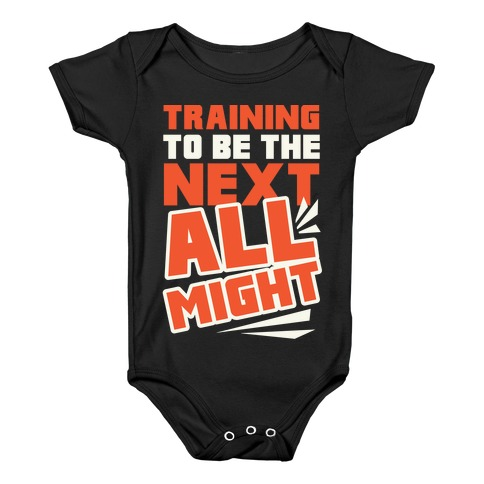 4d6fb0a71a077 Training To Be The Next All Might Baby One-Piece