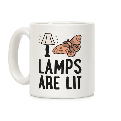 Lamps Are Lit Moth Coffee Mug