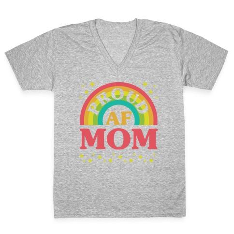 Proud AF Mom V-Neck Tee Shirt
