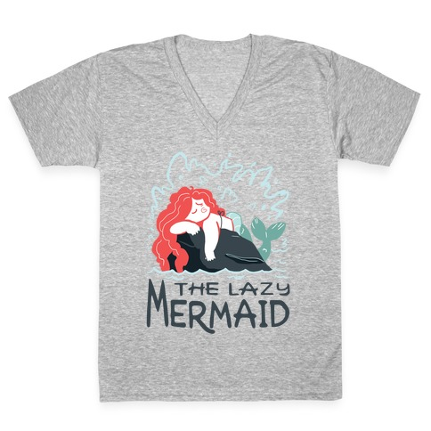 The Lazy Mermaid V-Neck Tee Shirt