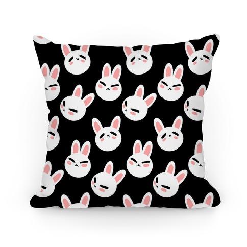 BunBun Pattern Black Pillow
