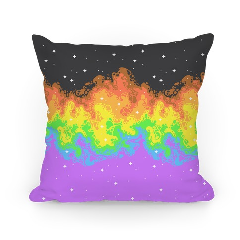 Psychedelic Nebula Pride Flag Pillow