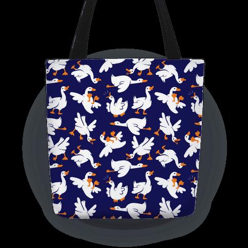 Goose Pattern Tote