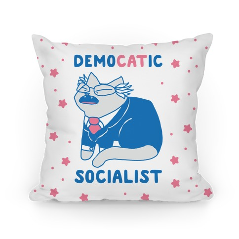 DemoCATic Socialist Pillow