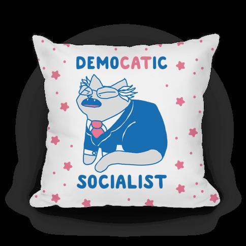DemoCATic Socialist Pillow