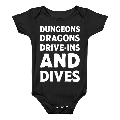 Dungeons Dragons Drive-ins And Dives Baby Onesy