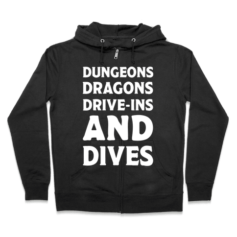 Dungeons Dragons Drive-ins And Dives Zip Hoodie