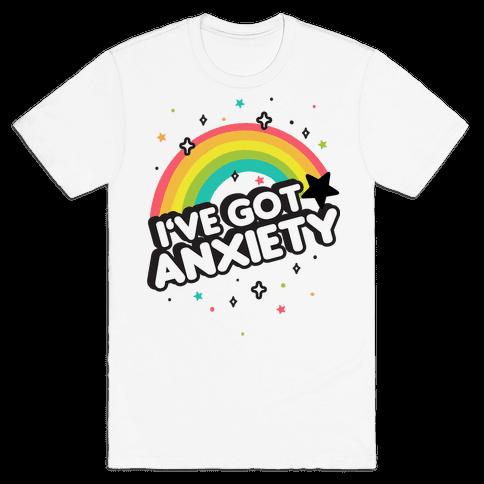 I've Got Anxiety Rainbow Mens/Unisex T-Shirt