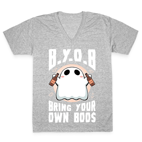 Bring Your Own Boos V-Neck Tee Shirt
