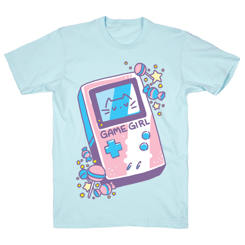 Game Girl - Trans Pride Mens/Unisex T-Shirt