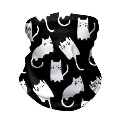 Ghost Cat Pattern Neck Gaiter