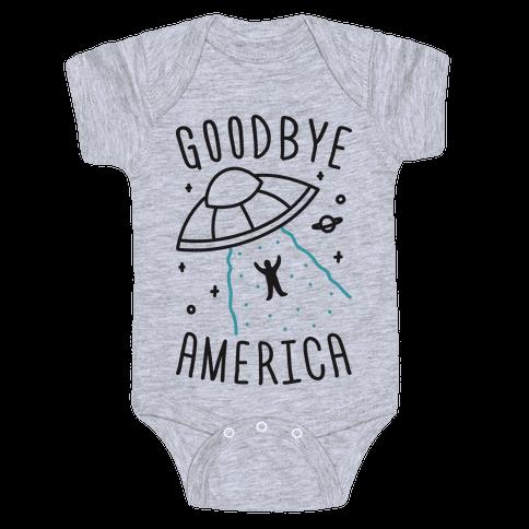 Goodbye America Baby Onesy
