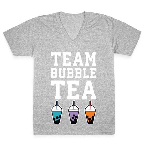 Team Bubble Tea V-Neck Tee Shirt