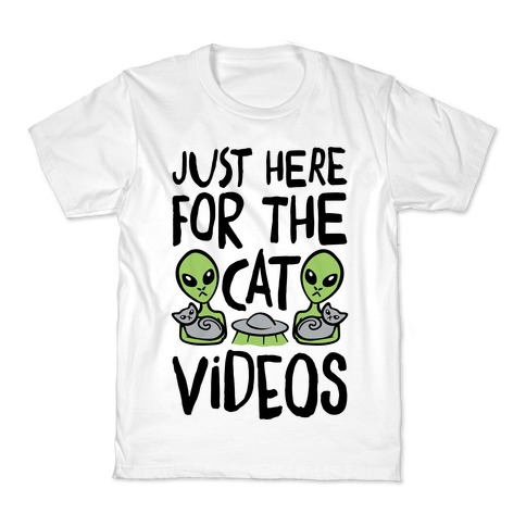 I'm Just Here For The Cat Videos Kids T-Shirt