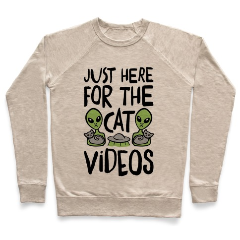 I'm Just Here For The Cat Videos Pullover