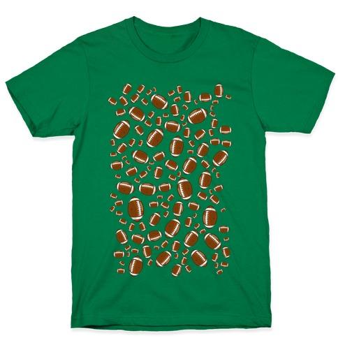Footballs Pattern T-Shirt