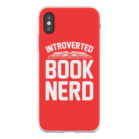 Introverted Book Nerd Phone Flexi-Case