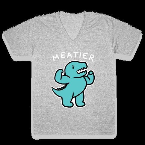 Meatier Dino V-Neck Tee Shirt