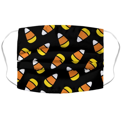 Candy Corn Pattern Accordion Face Mask