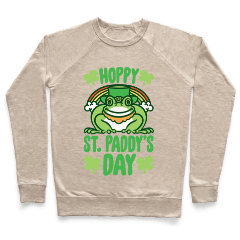Hoppy St. Paddy's Day Frog Pullover
