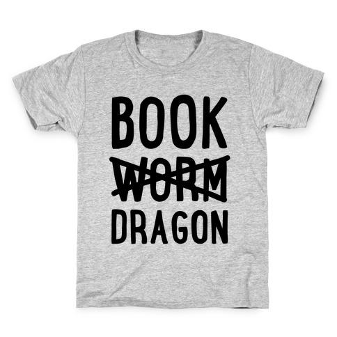 Book Dragon Not Book Worm Kids T-Shirt