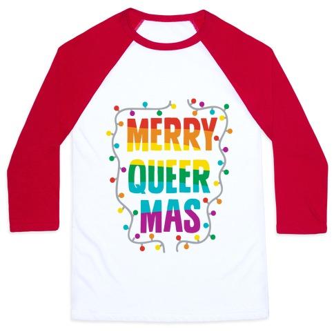 Merry Queer-mas Baseball Tee