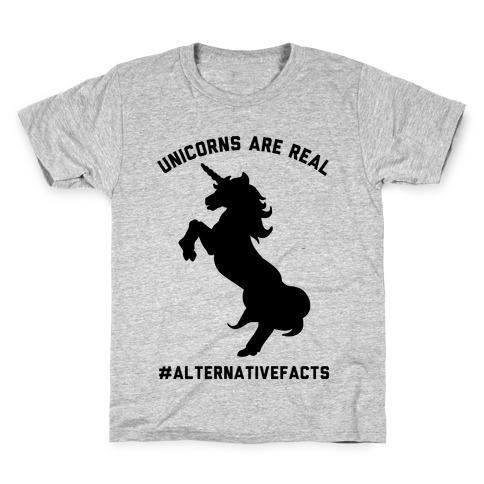 Unicorns Are Real Alternative Facts Kids T-Shirt
