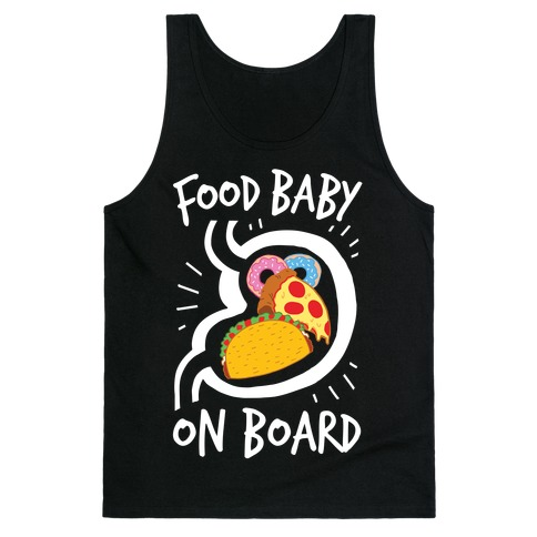 Food Baby On Board Tank Top