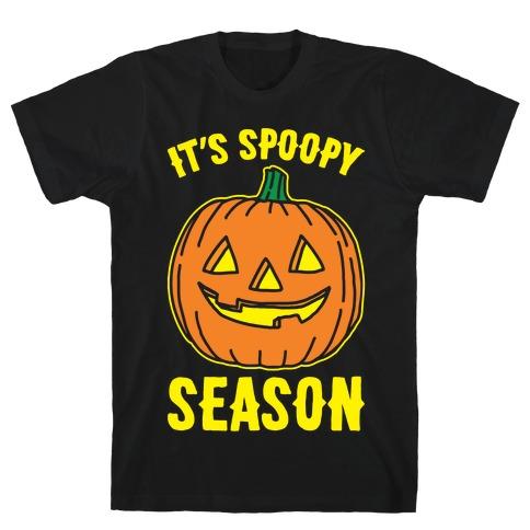 It's Spoopy Season White Print T-Shirt