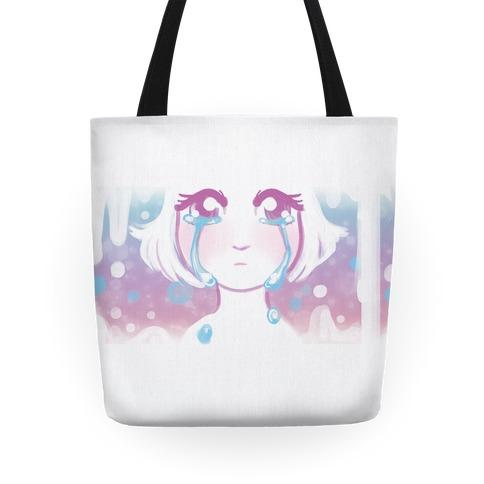 Anime Girl Tears Tote