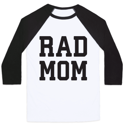 Rad Mom Baseball Tee