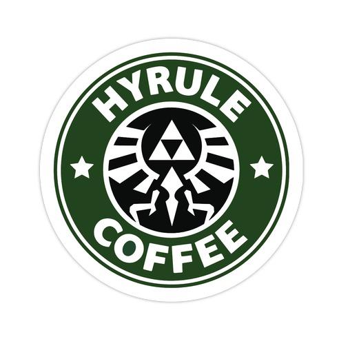 Hyrule Coffee Die Cut Sticker