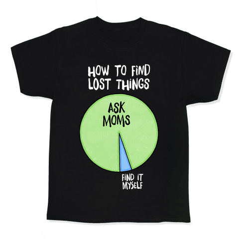 How To Find Things: Ask Moms Kids T-Shirt