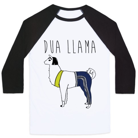 Dua Llama Parody Baseball Tee