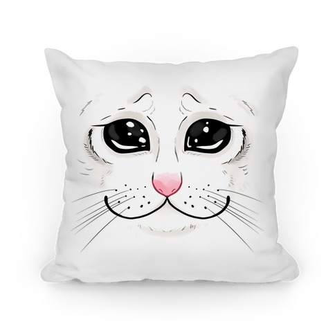 Crying Cat Face Pillow