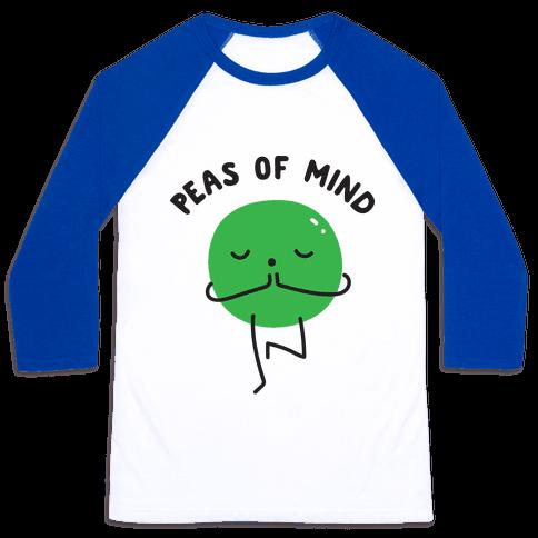 Peas Of Mind Baseball Tee