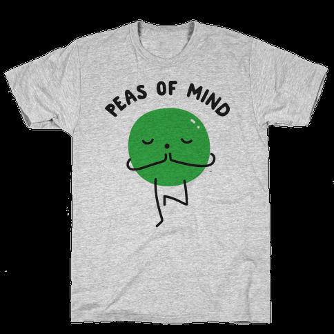 Peas Of Mind Mens T-Shirt