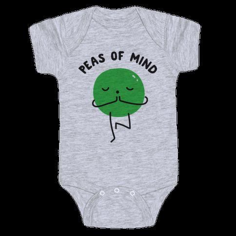 Peas Of Mind Baby Onesy